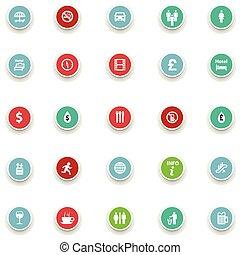 Información de iconos redondos