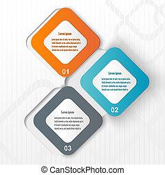 Información de papel a todo color. Vector eps10 ilustración