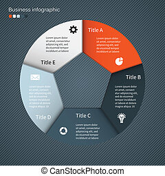 Información de vectores moderna gráfica para proyecto de negocios