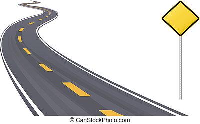 información, espacio, señal, tráfico, copia, carretera