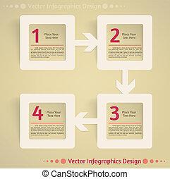 Información plana de vectores de diseño de fondo