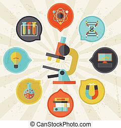 información, plano, concepto, ciencia, diseño gráfico, style.