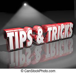 información, provechoso, consejo, proyector, cómo, palabras, puntas, engaños, 3d