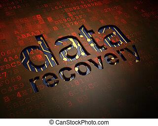 información, recuperación, pantalla, plano de fondo, digital, datos, concept: