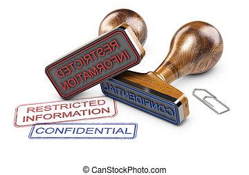 información, restringido, confidencial, datos