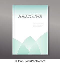 informe, anual, cubierta, diseño