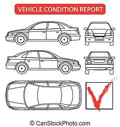 informe, coche, condición, (car, cheque