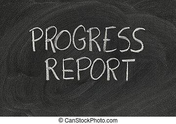 informe, progreso