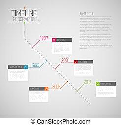 informe, timeline, infographic, diagonal, plantilla