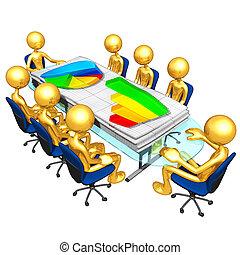 Informes de negocios reunidos