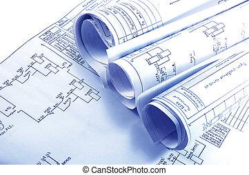 Ingeniería de los planos de la electricidad