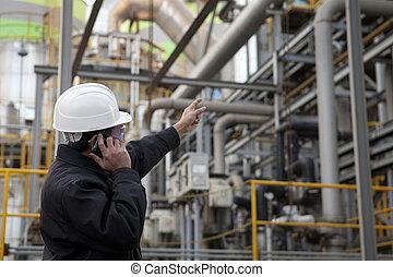 Ingeniero de refinería de petróleo