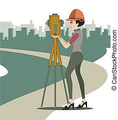 Ingeniero femenino.