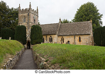 inglaterra, cotswold, viejo, distrito, iglesia