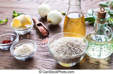 Ingredientes de risotto