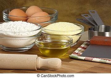 ingredientes frescos de tortellini
