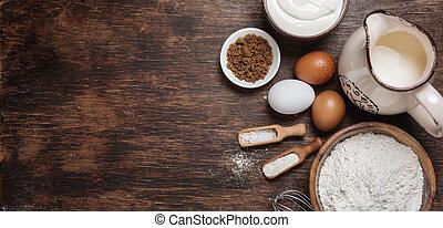 ingredientes, hornada