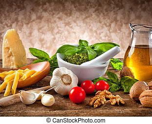 Ingredientes para el pesto
