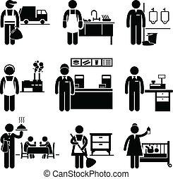 ingresos, trabajos, bajo, carreras, ocupaciones