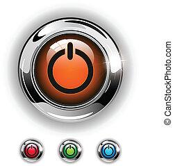 Inicia icono, botón