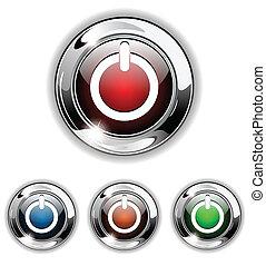 Inicia icono, botón, vector ilustrado