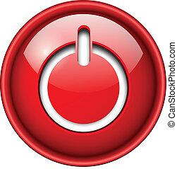 Inicia icono, botón.