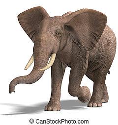 inmenso, elefante