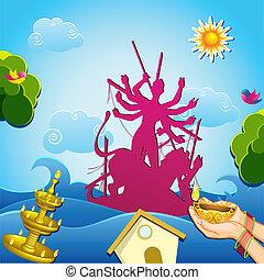 Inmersión de la diosa Durga