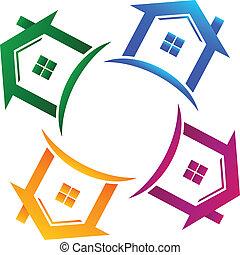 Inmobiliaria 4 casas logotipo