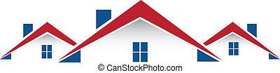Inmobiliaria alberga vector de logo
