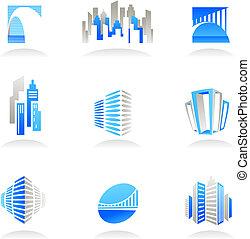 Inmobiliaria y iconos de construcción / logos