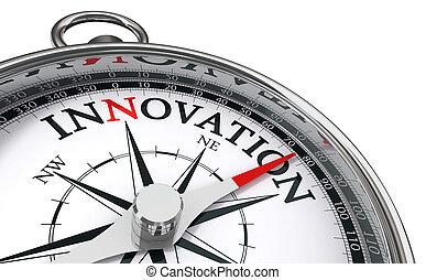Innovación concepto brújula