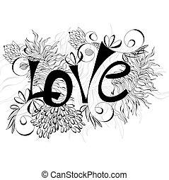 inscripción, amor
