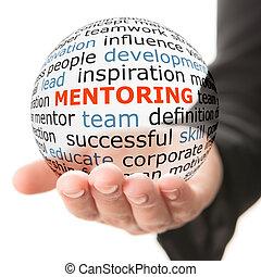 inscripción, pelota, mentoring, transparente