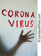 inscription., virus, corona