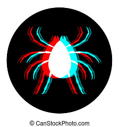 insecto, visual, icono