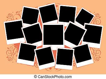 insertar, imagen, collage, marco, photos., template., su