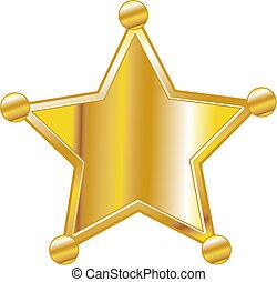 insignia, arte, alguacil, clip