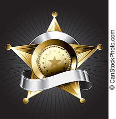 insignia, diseño, alguacil