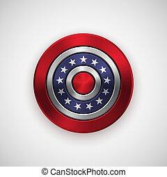insignia, independencia, julio, día, 4