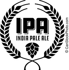 insignia, o, pálido, india, ipa, label., cerveza inglesa