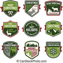 insignias de Navidad