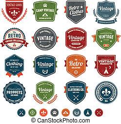 insignias de vintage