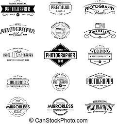 insignias, vendimia, fotografía
