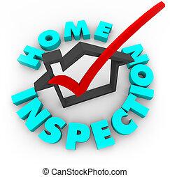 Inspección casera, caja de cheques