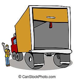 Inspección de seguridad del camión