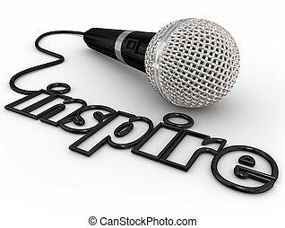 Inspire micrófono palabra cable motivacional discurso de discurso de discurso de discurso de discurso de discurso