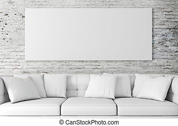 Instalación 3D con sofá y bl