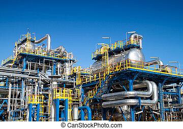 Instalación de equipo de la industria petrolera