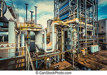 Instalación de equipos de industria